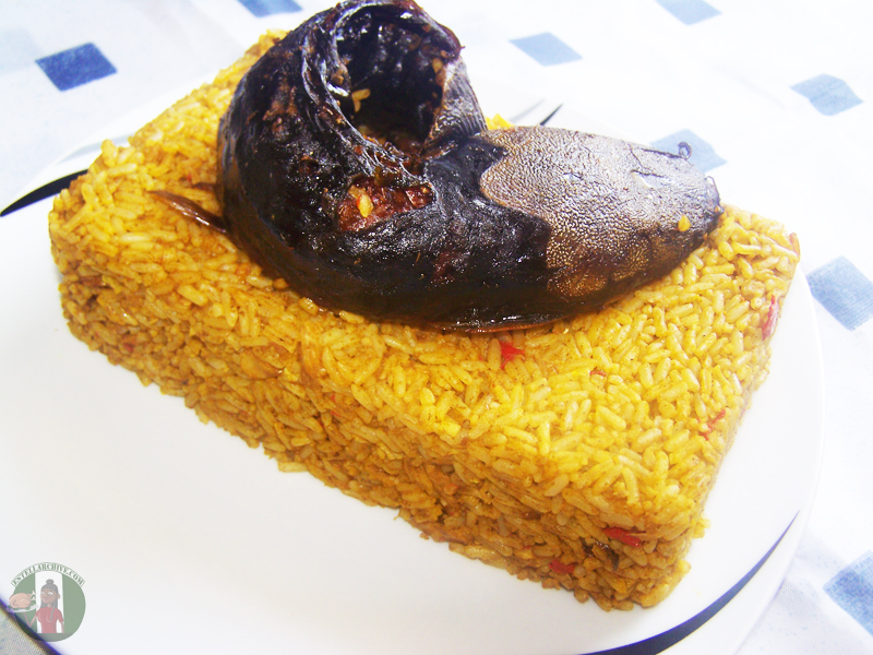 Simple steps to prepare banga rice.